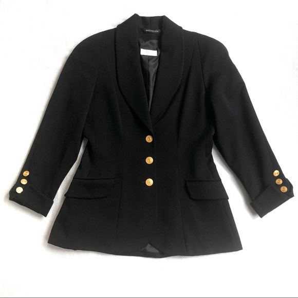 Vintage Jackets & Blazers - Flawless 1960s Bergdorf Goodman 100% Wool Blazer